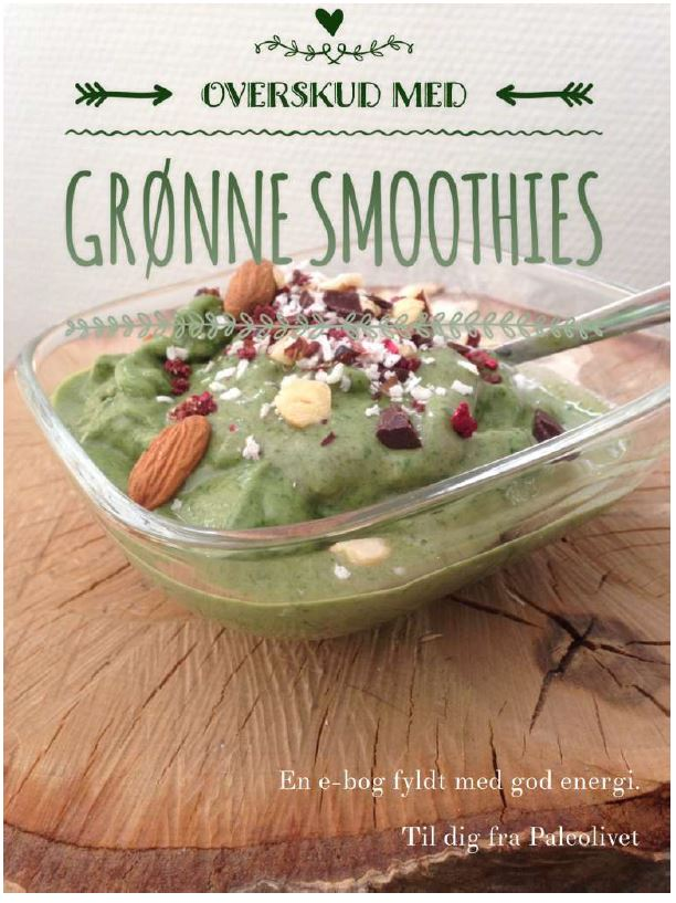 Illustration af Grønne smoothies